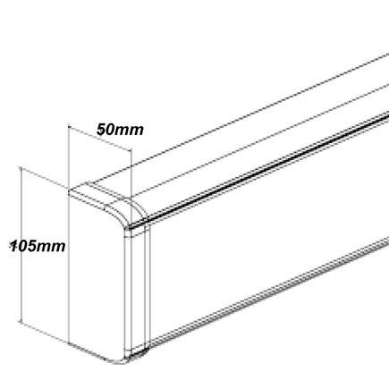 Horizontal Power Rail 10 x 10amp GPO 1.8m Lead 10amp 3pin plug